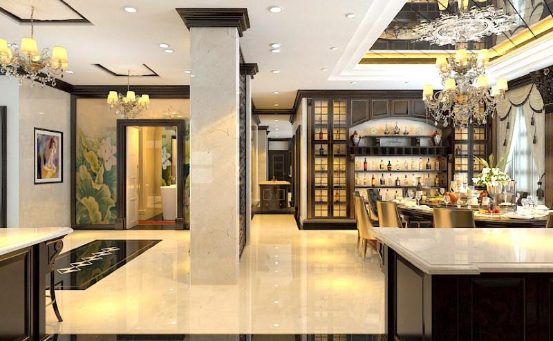 Không gian nhà bếp đẹp siêu sang của biệt thự lâu đài hoành tráng - Thiết  kế nội thất ĐẸP, TINH TẾ [AVALO]